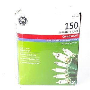GE 150 Miniature Lights Green Wire ConstantOn 31ft